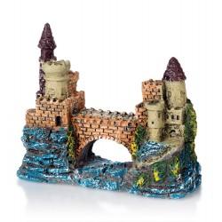 Akvarijní dekorace PO-040 hrad s mostem