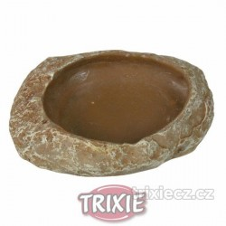 Terarijní miska na vodu nebo krmivo 15x3,5x12 cm