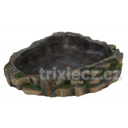 Miska na vodu a krmení pro plazy 24 x 5,5 x 20 cm