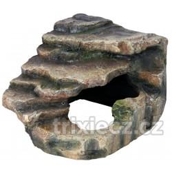 Rohová skála s jeskyní - pouštní prales 16x12x15 cm