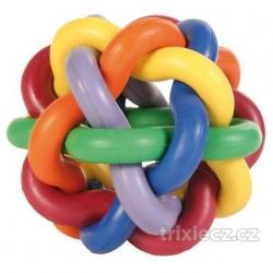 Míč tvrdá guma uzlíkový velký 10cm