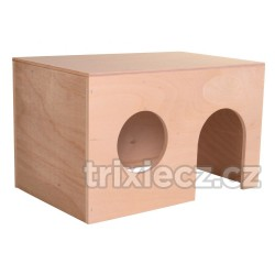 Dřevěný domek pro morčata, rovná střecha 24 x 15 x 15 cm