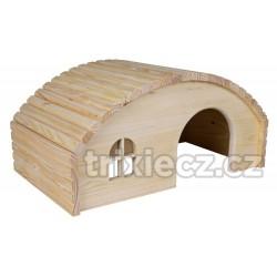 Dřevěné iglů pro králíky 42 x 20 x 25 cm