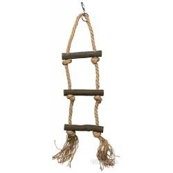 Závěsný žebřík motouz + 3 dřevěné příčky 40cm TRIXIE