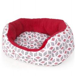 Pelíšek Cubic červený 50cm