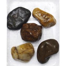 Písek akvarijní č.9 hnědý - oblázky, 3kg