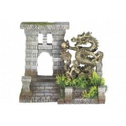 Nobby akvarijní dekorace brána s drakem 21,5 x 11 x 18,5 cm