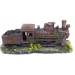 Nobby akvarijní dekorace zrezivělá lokomotiva 25,7 x 8,5 x 10,5 cm